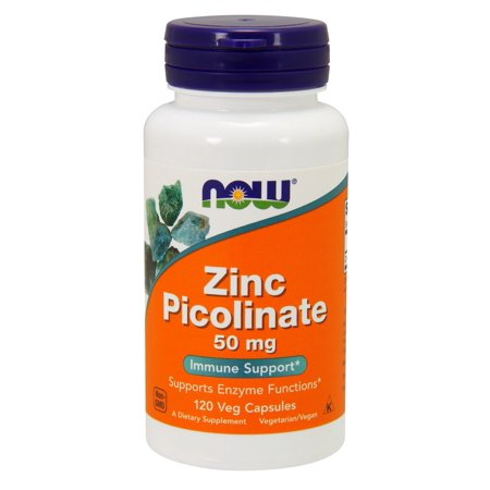 Timed Release 120 Cap (Zinc Picolinate 50mg Now Foods 120 Caps )