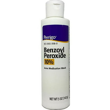 Perrigo Benzoyl Peroxide Acne Medication Face Wash 5