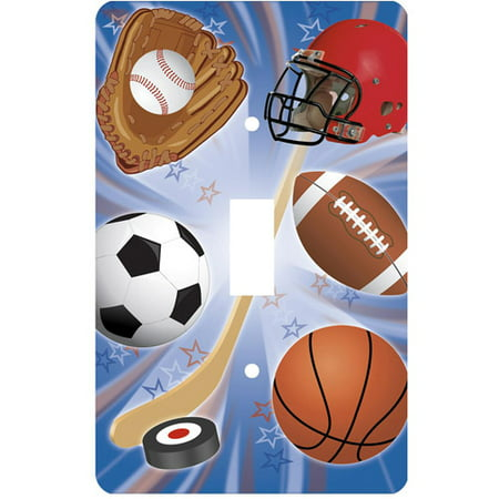 Light Switch Covers Kids - Sports Single Toggle Light Switch Cover