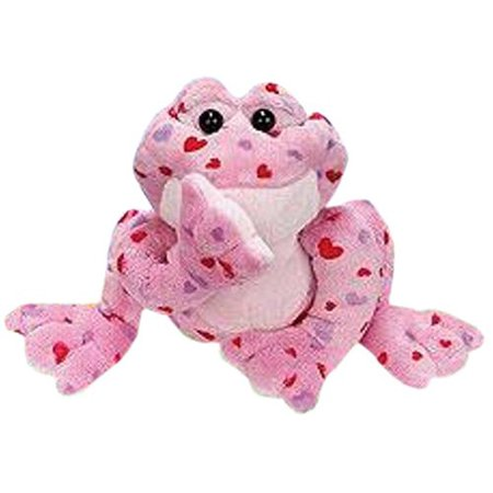 Ganz Webkinz Valentines Day Pink Love Frog Plush Toy Comes With Sealed Code