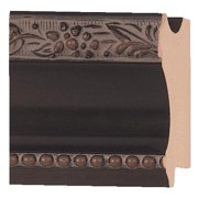 "Picture Frame Moulding (Wood) - Traditional Black Finish - 2"" width - 5/8"" rabbet depth"