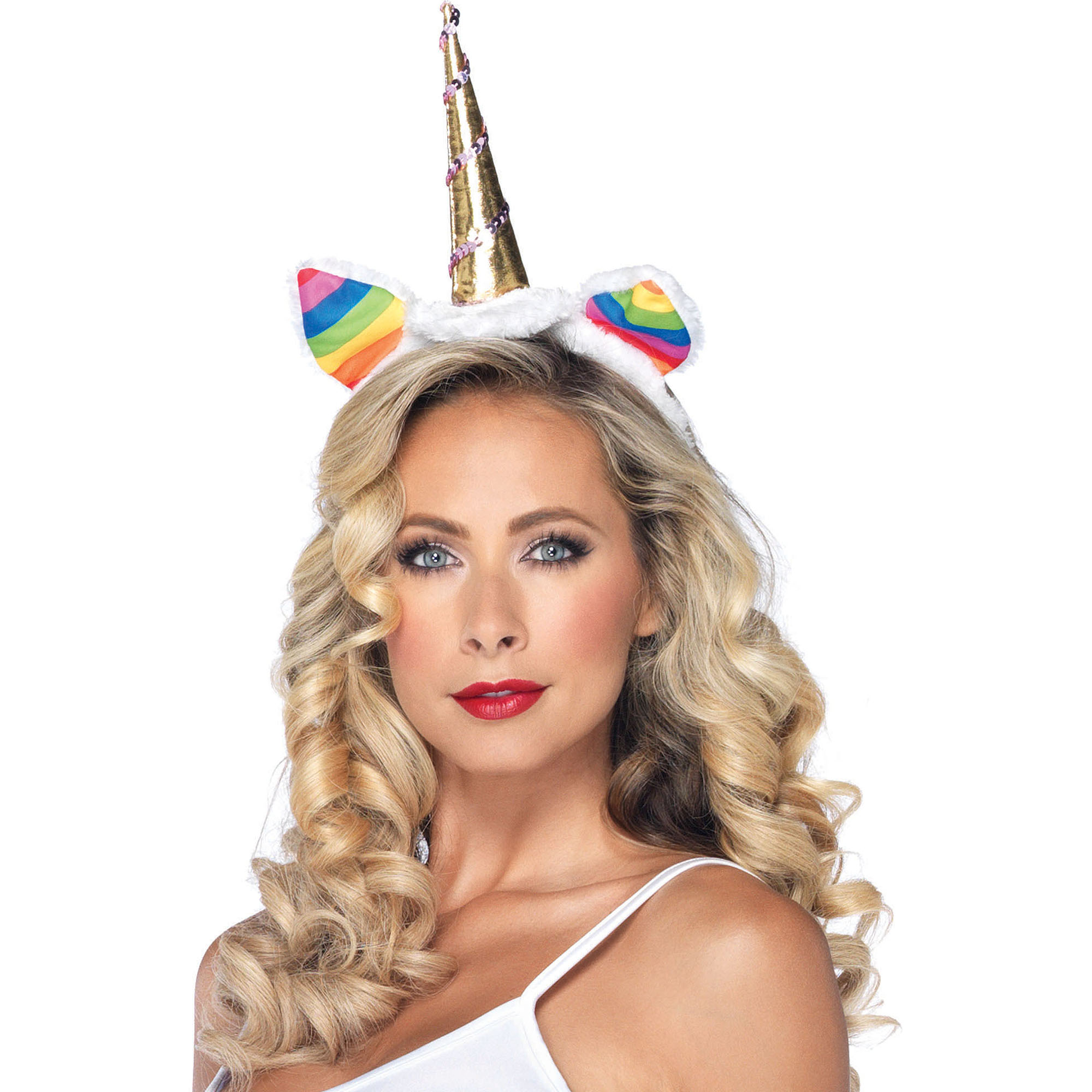 Rainbow Unicorn Headband Adult Halloween Costume