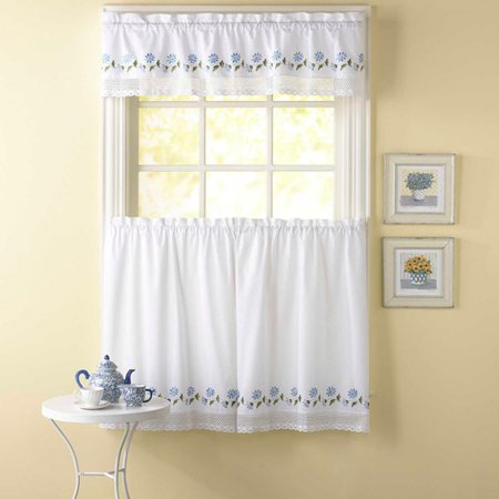 Chf you leighton tailored valance or kitchen curtains set of 2 - Kitchen curtains walmart ...