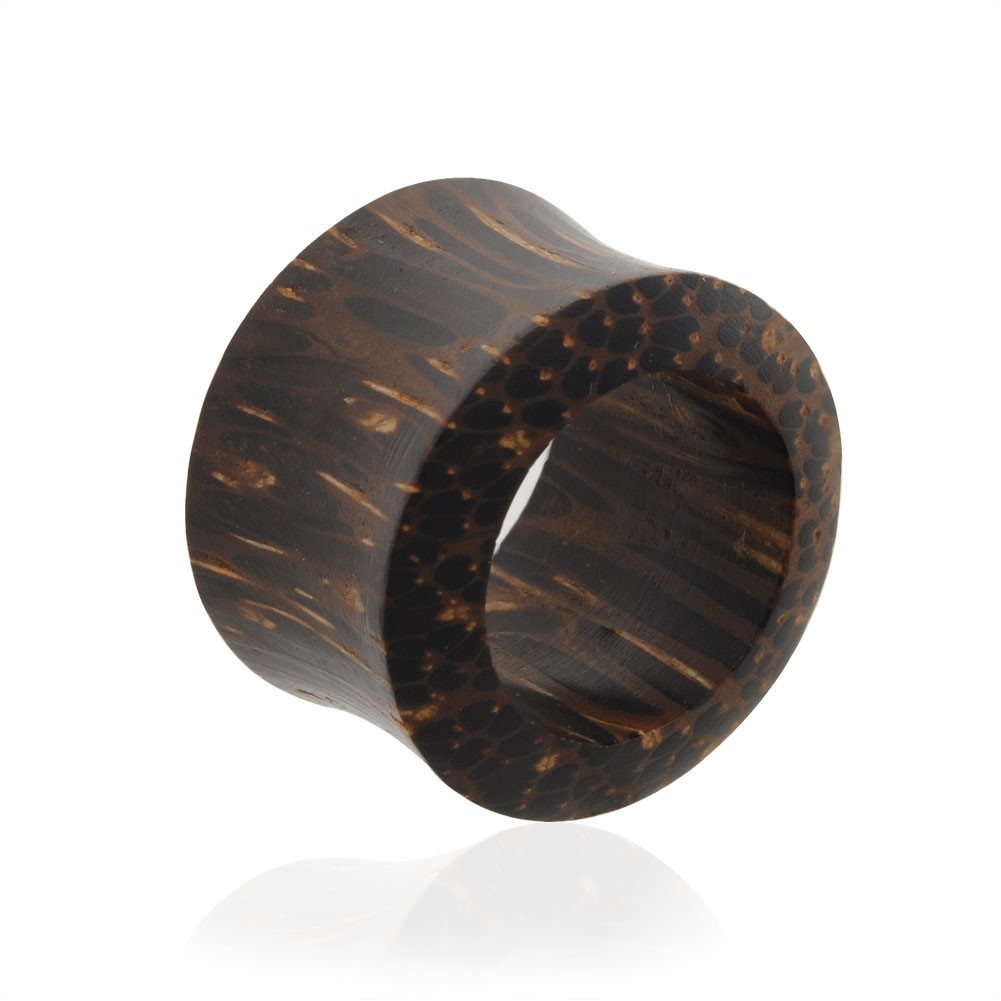 Pair Of Natural Palm Wood Saddle Tunnels,Gauge (Thickness):0 (8.0Mm)