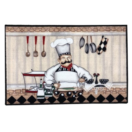 Kitchen Collection The Chef Kitchen Rug, Multi, 18x28 Inches