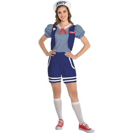 Party City Robin Scoops Ahoy Halloween Costume for Adults, Stranger Things with Accessories](Cop Costumes Party City)
