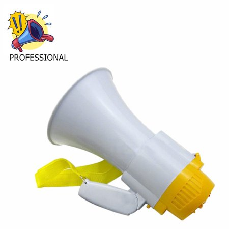 Make Sound Plastic Megaphone with Siren PMP30 High Quality Plastic Bullhorn