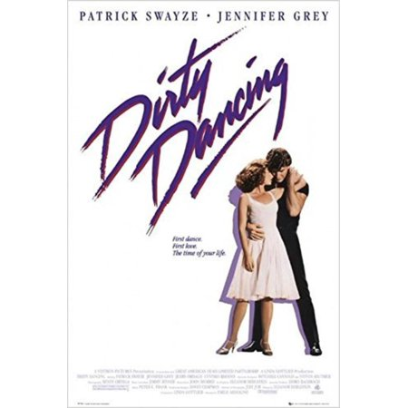 Dirty Dancing 1987 36x24 Movie Art Print Poster Jennifer Grey Patrick Swayze Time of Your Life, Printed on Poster Paper By (Did Patrick Swayze And Jennifer Grey Became Friends)