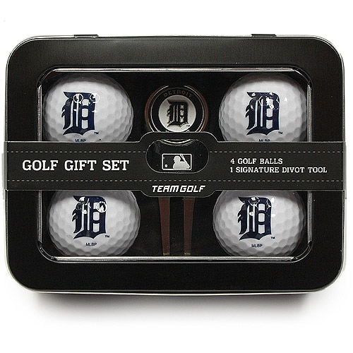 Team Golf MLB Detroit Tigers 4 Golf Ball And Divot Tool Set