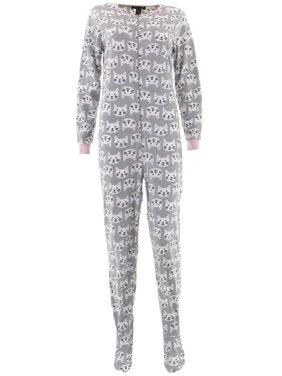 4e5d2f7774 Product Image Rene Rofe Women s Cats Gray Footed Pajamas