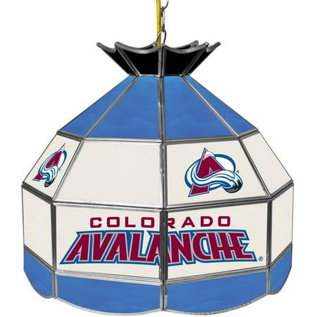 "NHL 16"" Handmade Tiffany Style Lamp, Colorado Avalanche by"