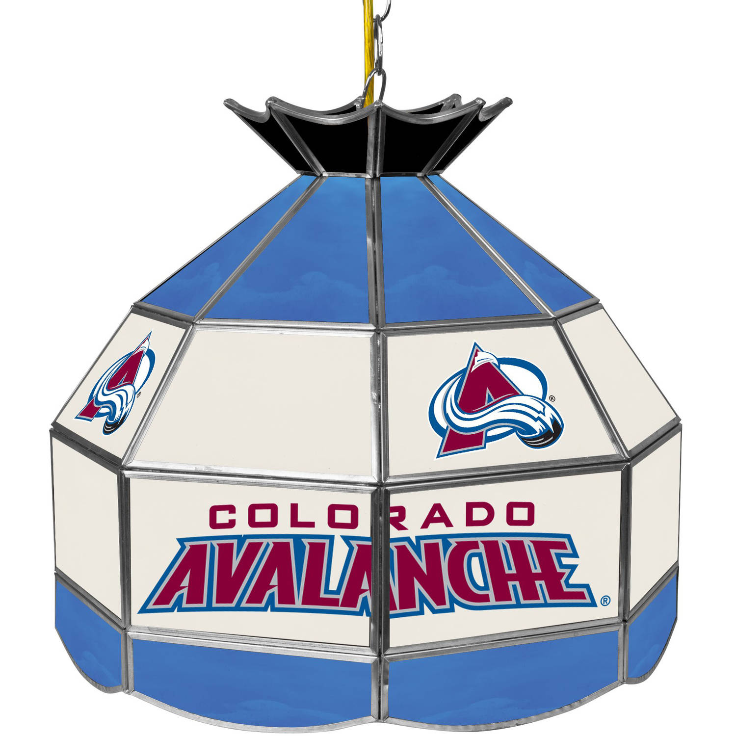 "NHL 16"" Handmade Tiffany Style Lamp, Colorado Avalanche"