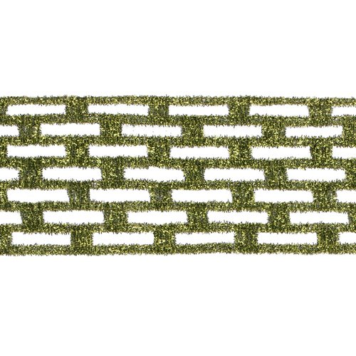 The Holiday Aisle Metallic Rectangle Wired Mesh Ribbon