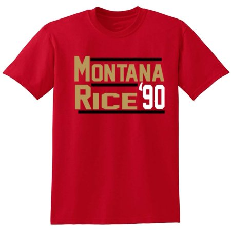 1992 Jerry Rice (Shedd Shirts RED Joe Montana Jerry Rice 49ers
