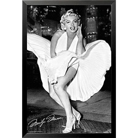 FRAMED Marilyn Monroe - White Dress - 7 Year Itch 36x24 Photograph Art Poster Print  -  Famous Scene from the Movie
