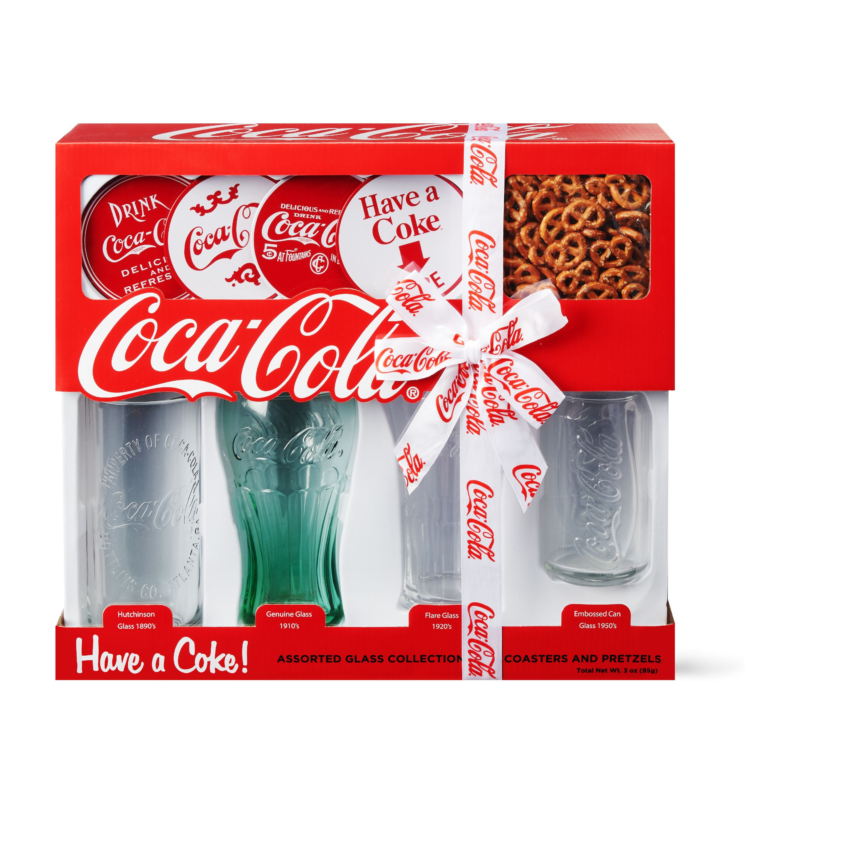 Present Gift Coca Cola Collectable Collectors Drinks Glass Tumbler with Straw