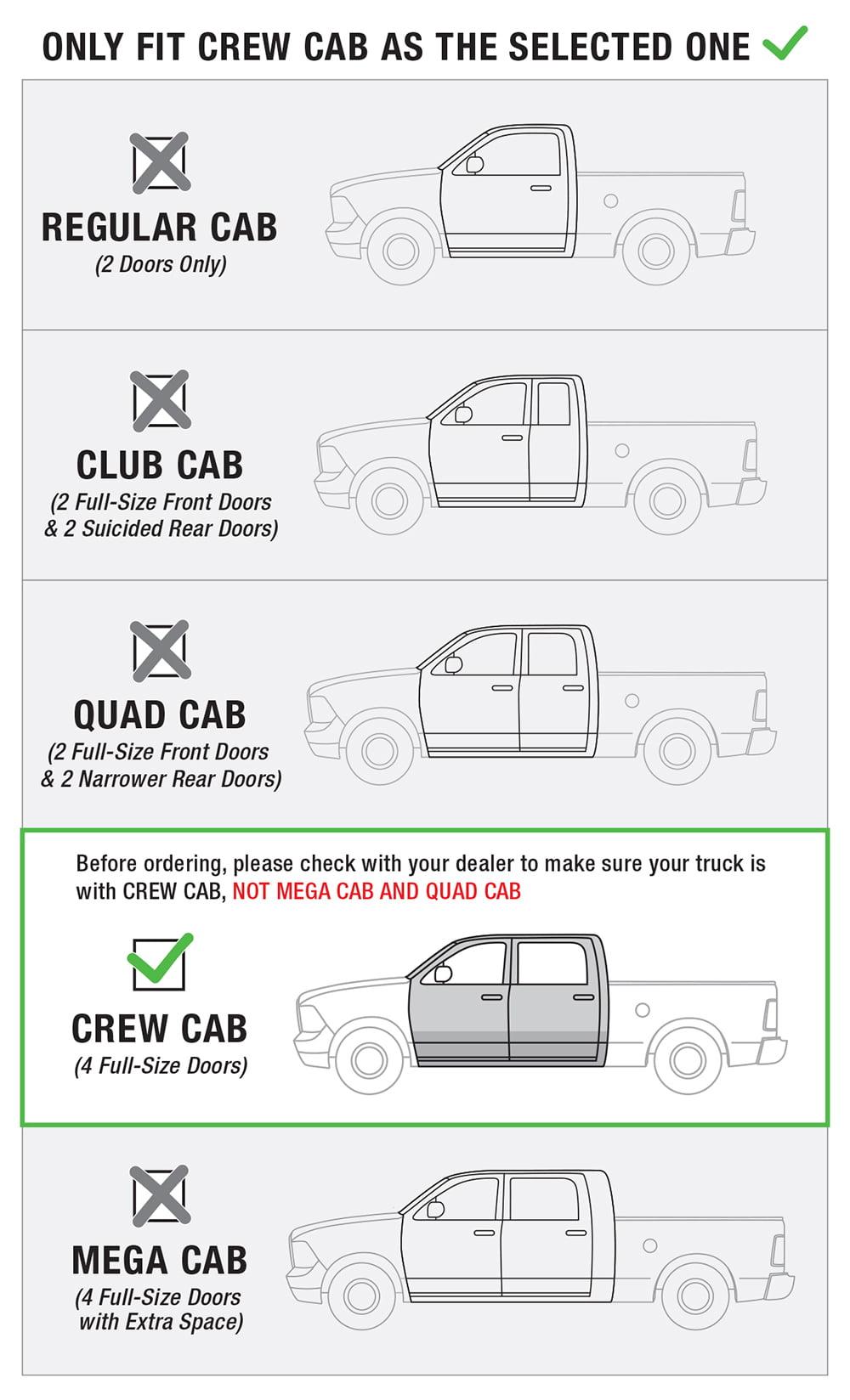 "For 09-18 Dodge Ram 1500 Regular Cab 3/"" Side Step Rails Nerf Bars Running Boards"
