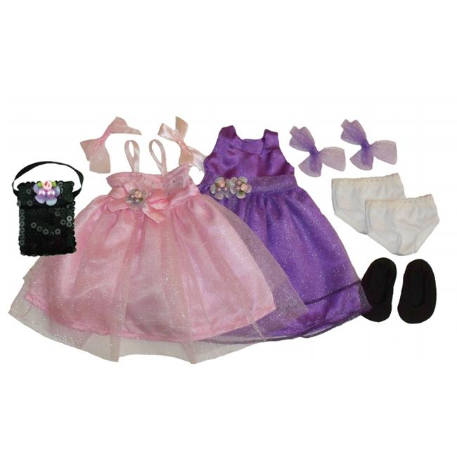Get Ready 1322 Kids Doll Clothes, 2 Princess Dresses and Accessories