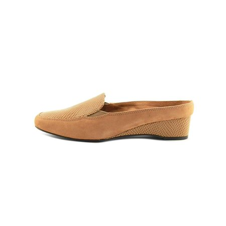 Leather Square Toe Mules (J.Renee Womens Edlyn Suede Square Toe Mules)