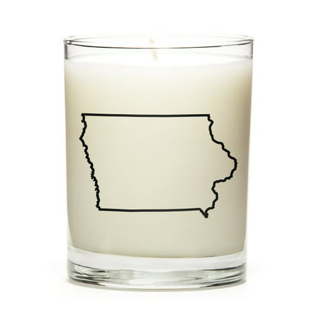 Custom Candles with the Map Outline Iowa, - Custom Candle