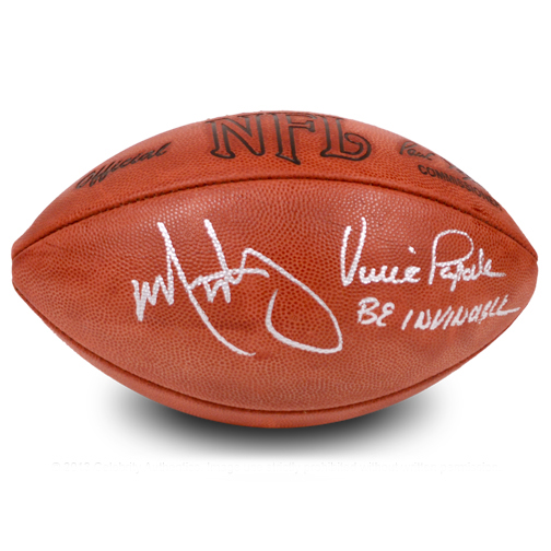 Mark Wahlberg and Vince Papale Autographed Official Football