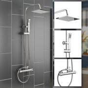 Tbest Wall Mounted Thermostatic Handhled Sprayer Bathroom Complete Rainfall Shower System Set,Shower Set, Bathroom Shower System