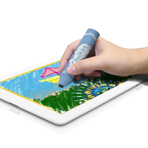 GreatShield Chalkee Kids Friendly Stylus for Touch Screen Tablets & Learning Devices (Blue)
