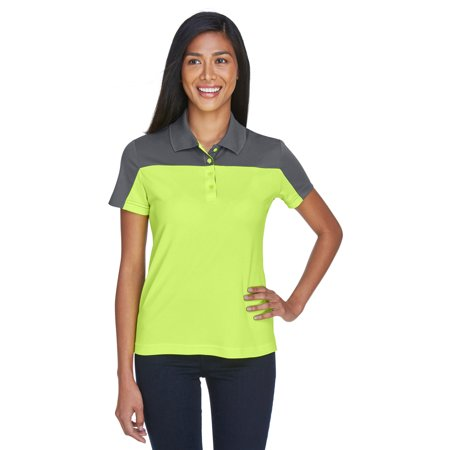 A Product of Ash City - Core 365 Ladies' Balance Colorblock Performance Piqué Polo - SFTY YL/ CRB 691 - XL [Saving and Discount on bulk, Code - Party City Discount Code