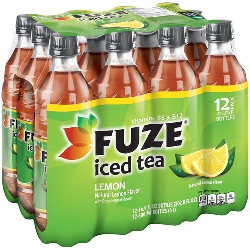Fuze Lemon Iced Tea, 16.9 fl oz, 12 pack