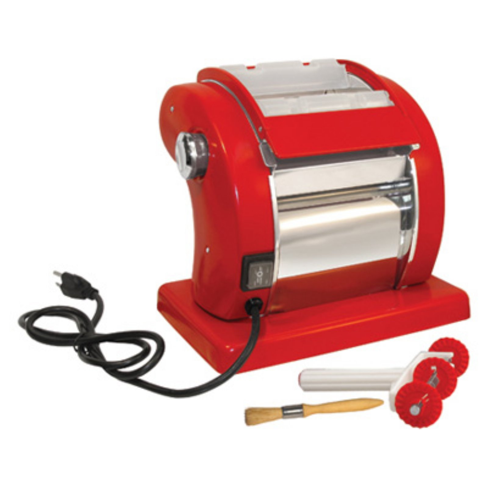 Prago Roma Express Electric Pasta Machine, Red