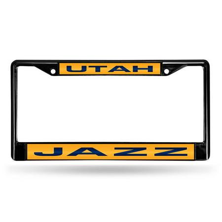Utah Jazz Nba Black Chrome Laser Cut License Plate Frame