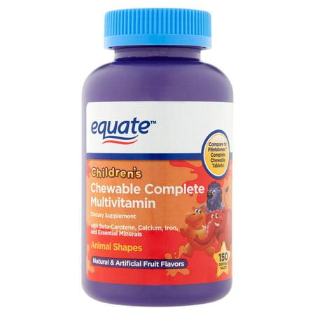 equate complet assortiment de fruits pour enfants aromatisée multivitamines / Supplément Multiminéraux, 150ct