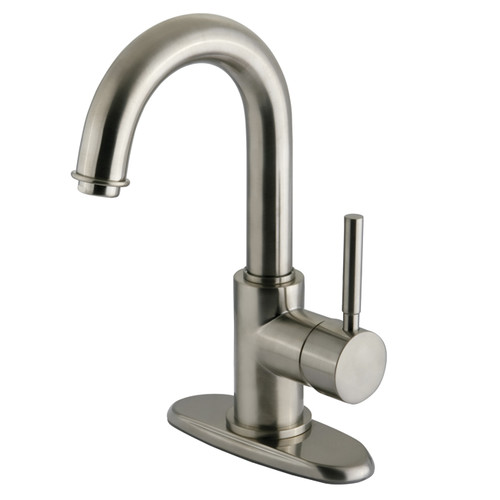 Elements of Design South Beach Single Handle Centerset Bathroom Faucet with Push-Up Pop-Up Drain