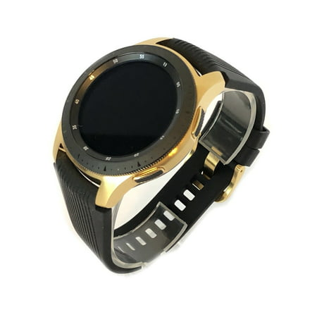 24K Gold Plated 46MM 2018 Samsung Galaxy Watch Black Band ()