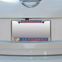Kansas Jayhawks Small Over Large Mega License Plate Frame - No Size