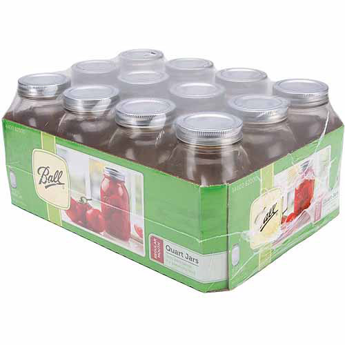 Ball Canning Jar Regular Mouth with Lid, 24pk