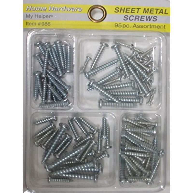 Sheet Metal Screw Assortment Pack Economy Screws 6454 030699464548