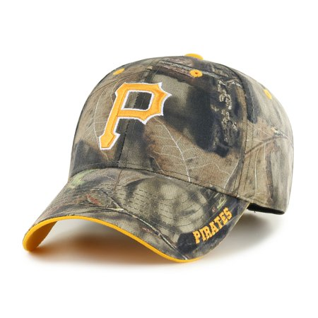 Fan Favorite MLB Mossy Oak Adjustable Hat, Pittsburgh Pirates