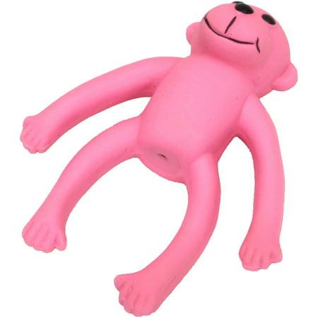 """Rascals 6"""" Latex Long Legged Monkey Dog Toy, Pink"""
