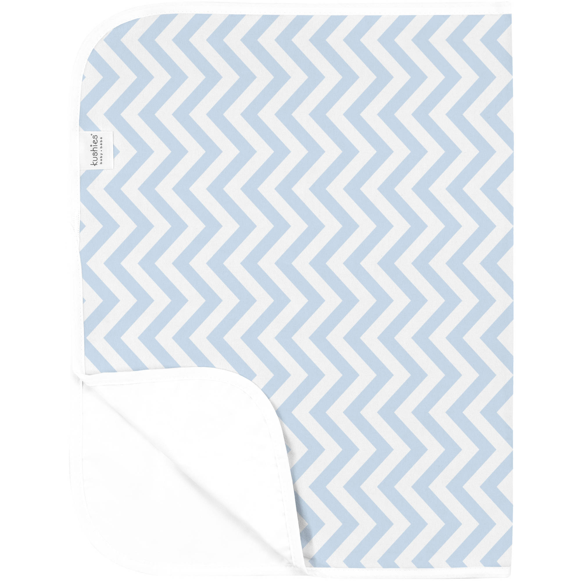 Kushies Deluxe Flannel Change Pad, Chevron Blue