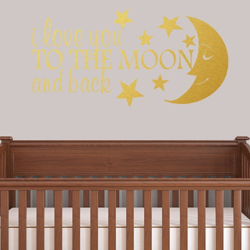 Harriet Bee Colstrope I Love You To The Moon And Back Wall Decal