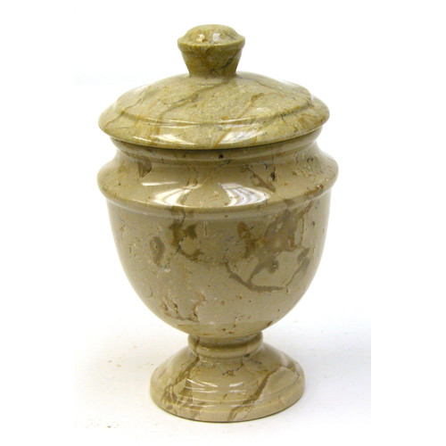 Nature Home Decor Sahara Beige Marble Container