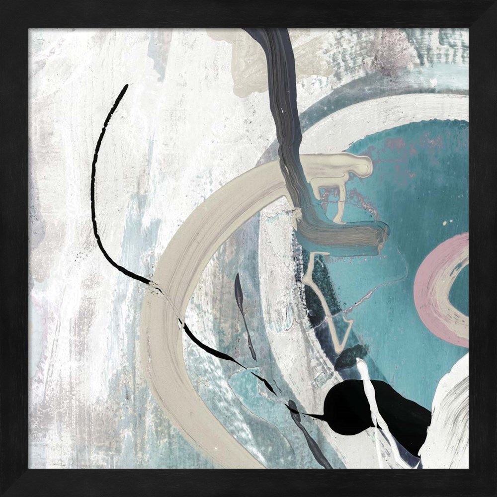 Tangled II Teal by Posters International Studio, Framed Wall Art, 13.25W x 13.25H
