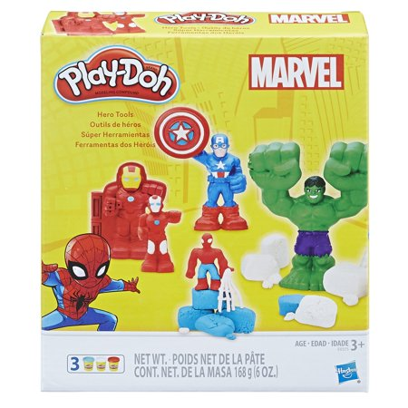 Play-Doh Marvel Hero Tools with 3 Cans of - Play Dough Tools
