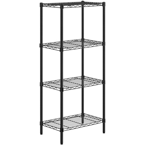 Honey Can Do 4-Shelf Steel Storage Shelving Unit, Multicolor