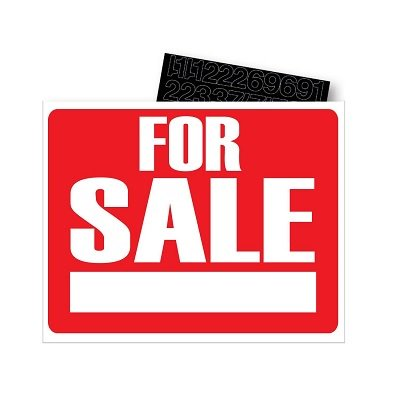 SIGN INDOOR/OUTDOOR 8X12 FOR SALE - image 1 of 1