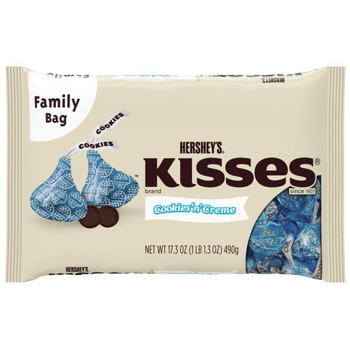 Kisses Cookies'n'Creme Chocolate Candy, 17.3 oz
