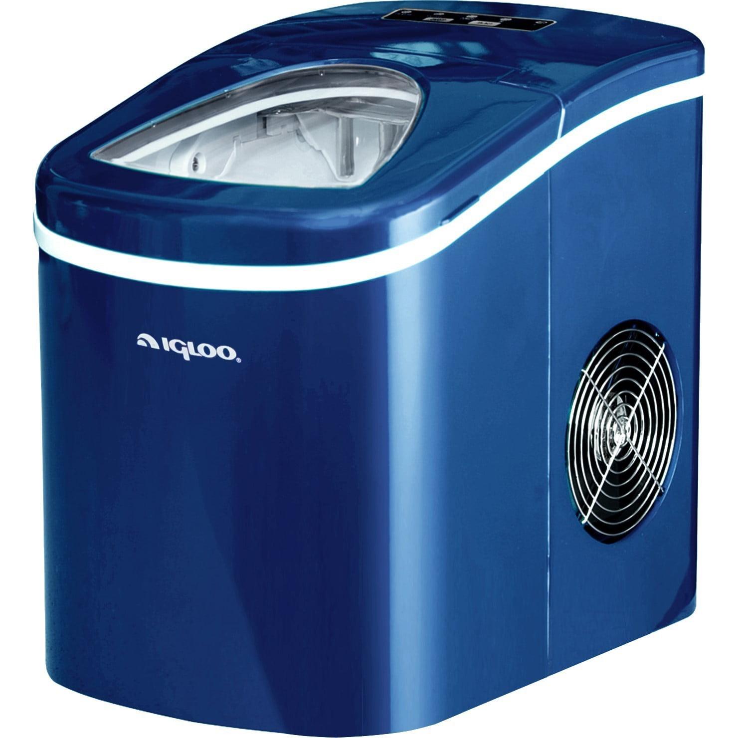 Igloo Portable Countertop Ice Maker 26 Lb Daily Capacity Blue Walmart Com Walmart Com