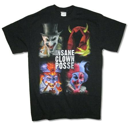 Insane Clown Posse Blocks Portraits Juggalo Black T Shirt ICP