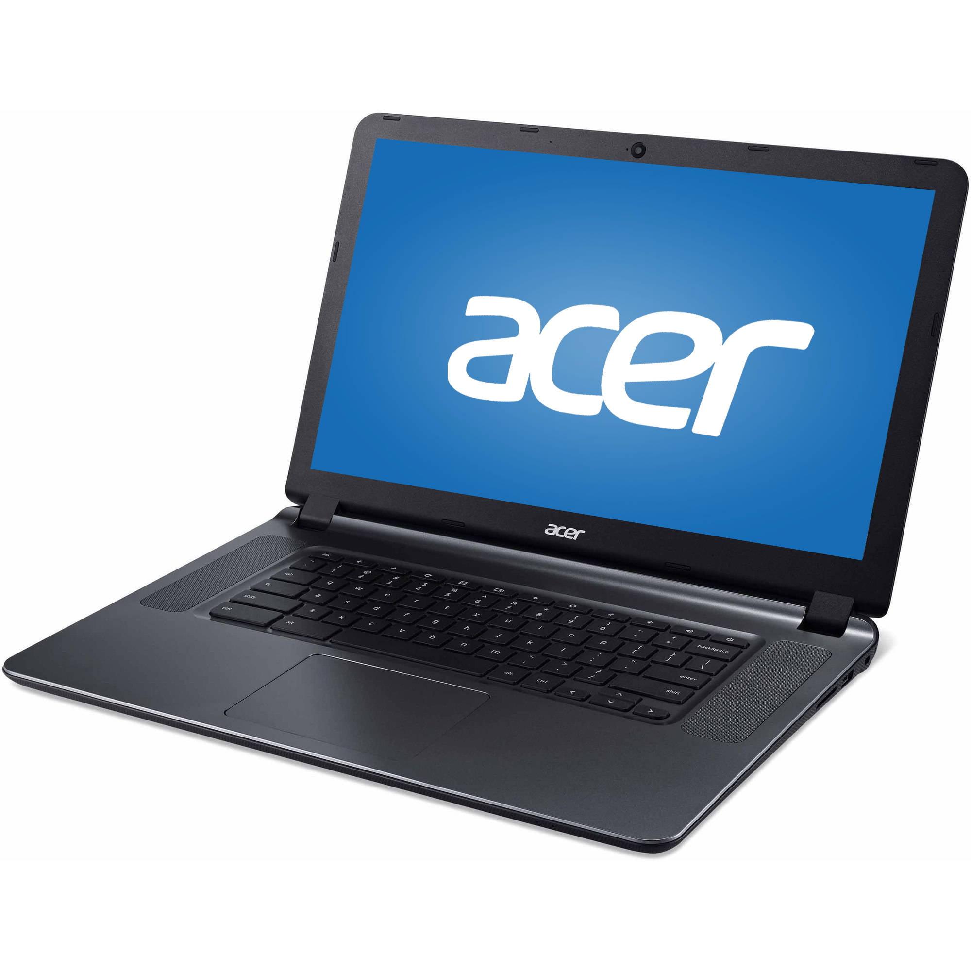 "Manufacturer Refurbished Acer CB3-532-C47C 15.6"" Chromebook, Chrome OS, Intel Celeron N3060 Processor, 2GB RAM, 16GB Flash Drive"